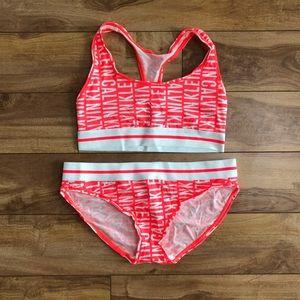 NWOT Calvin Klein Orange Bralette & Panty Set